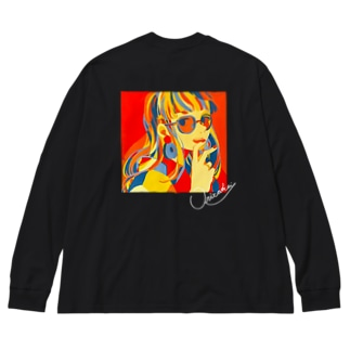 子供と大人 Big silhouette long sleeve T-shirts
