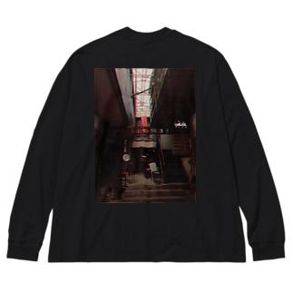 シモキタ Big silhouette long sleeve T-shirts
