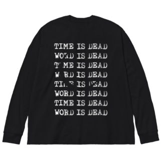 TIME IS DEAD(三日月) Big silhouette long sleeve T-shirts