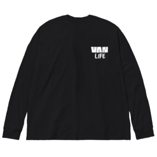 バンライフ(ホワイト) Big silhouette long sleeve T-shirts