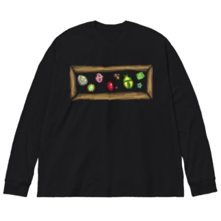 ほうせきばこ-コガネムシ Big silhouette long sleeve T-shirts