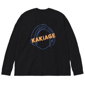 かき上げ系 Big silhouette long sleeve T-shirts