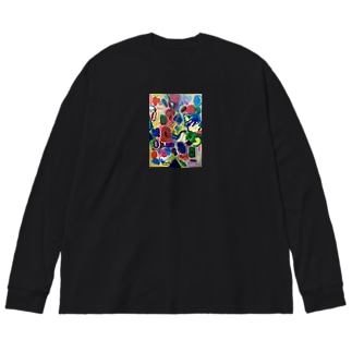 謎の種の庭 Big silhouette long sleeve T-shirts