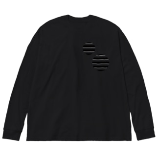Cropping Border T(Circle) / Black-Gray Big silhouette long sleeve T-shirts
