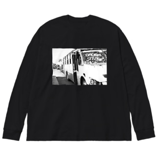 バス Big silhouette long sleeve T-shirts