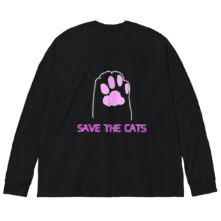 Save the cats 2 Big silhouette long sleeve T-shirts