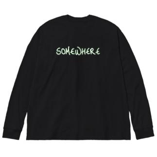 どっかの国の住宅地(Xcolor) Big silhouette long sleeve T-shirts