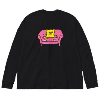 リラックス Big silhouette long sleeve T-shirts
