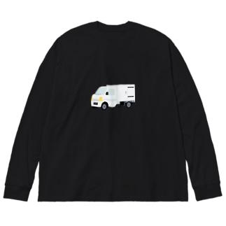軽貨物車2 Big silhouette long sleeve T-shirts