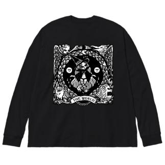 THE WORLD - TAROT Big silhouette long sleeve T-shirts