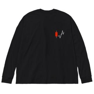 陽線パーカー Big silhouette long sleeve T-shirts