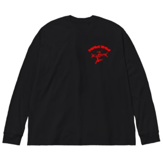 日ノ丸工房のレーシングドローン レッド Big Silhouette Long Sleeve T-Shirt