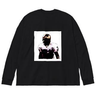 Defenseback #31 Big silhouette long sleeve T-shirts