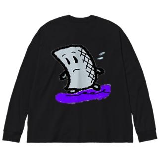 焦るコン太氏 Big silhouette long sleeve T-shirts