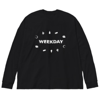 kusumureのFight!Weekday!! Big silhouette long sleeve T-shirts