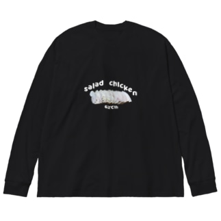 kusumureのsalad chicken Big silhouette long sleeve T-shirts