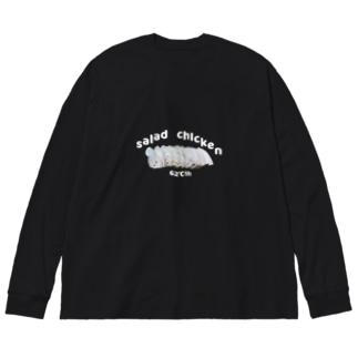 salad chicken Big silhouette long sleeve T-shirts