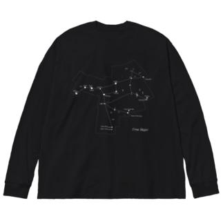 おおぐま座(88星座シリーズ) Big silhouette long sleeve T-shirts