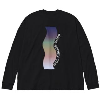 夜 Big silhouette long sleeve T-shirts