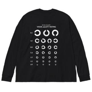 Visual Acuity Testing [前面プリント] ホワイト Big Silhouette Long Sleeve T-Shirt