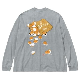 《 長袖TシャツBig シルエット_両面プリント》ロボロフスキーハムスター  Big silhouette long sleeve T-shirts