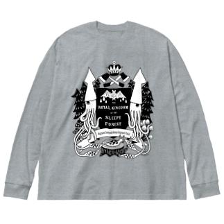 烏賊の紋章 Big silhouette long sleeve T-shirts