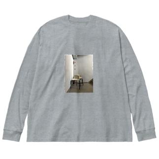 踊り場から Big silhouette long sleeve T-shirts