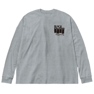 BLACK HAPPENING(ver2) Big silhouette long sleeve T-shirts