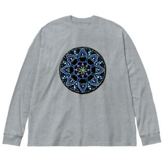 薄氷−丸ver. Big silhouette long sleeve T-shirts