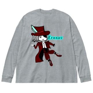 ほのぼのクロノス Big silhouette long sleeve T-shirts