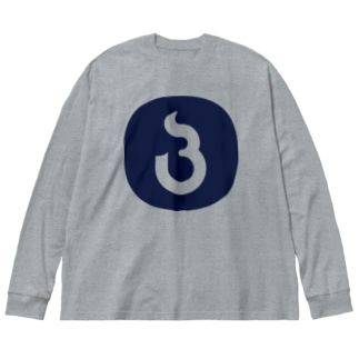 BuriBuri suzuriのLOGO 2000 Big silhouette long sleeve T-shirts