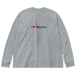 I love tequila Big silhouette long sleeve T-shirts