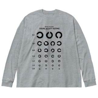 Visual Acuity Testing [前面プリント] ブラック Big Silhouette Long Sleeve T-Shirt