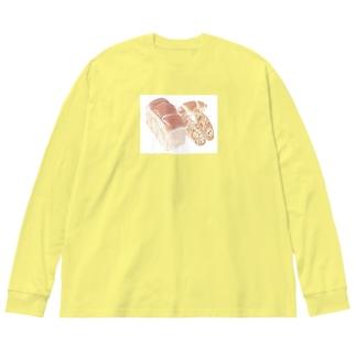 パン屋さん Big silhouette long sleeve T-shirts