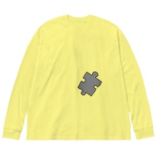パズルピース Big silhouette long sleeve T-shirts