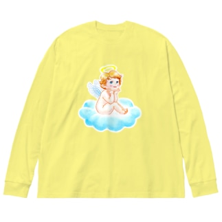 夢見る子天使 Big silhouette long sleeve T-shirts