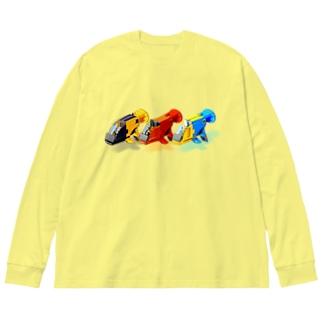GUPPY(3色) Big silhouette long sleeve T-shirts