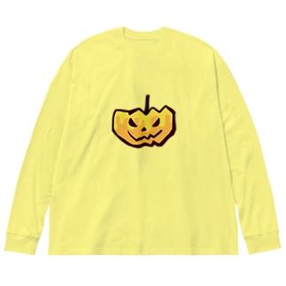 かぼちゃん Big silhouette long sleeve T-shirts