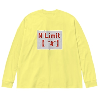NOリミット!3 Big silhouette long sleeve T-shirts
