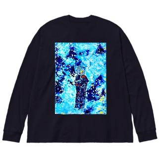氷河期の虚無僧 Big silhouette long sleeve T-shirts