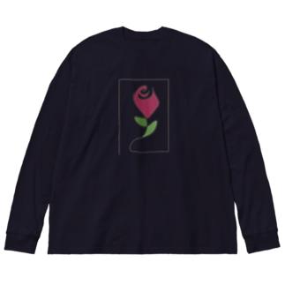 薔薇🌹 Big silhouette long sleeve T-shirts