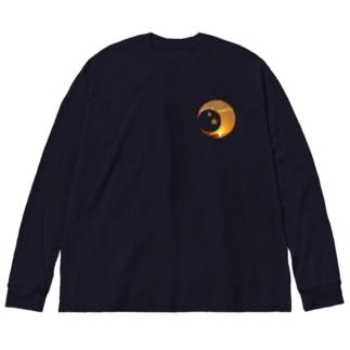 午後5時 Big silhouette long sleeve T-shirts