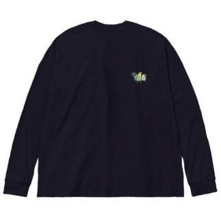コトリ三兄弟 Big silhouette long sleeve T-shirts