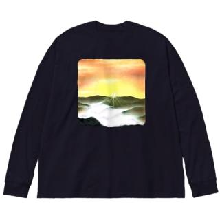 曙光 Big silhouette long sleeve T-shirts