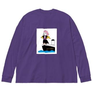 ブタイタニック Big silhouette long sleeve T-shirts