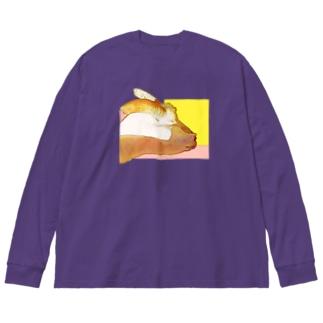 ヤギちゃん Big silhouette long sleeve T-shirts