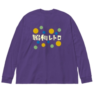 昭和レトロ Big silhouette long sleeve T-shirts