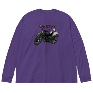 Rebelマニッシュ Big silhouette long sleeve T-shirts