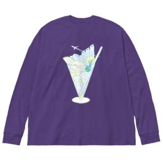 Shinjuku☆SODA Big silhouette long sleeve T-shirts