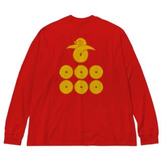 真田六文銭 Big silhouette long sleeve T-shirts